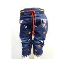 Madina Fashion Stylish Denim Bermuda Jeans For Boys Blue (020)