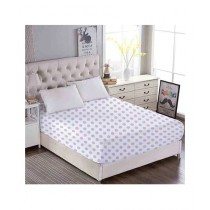 Maguari Cotton Dot Fitted Double Bed Sheet (0451)