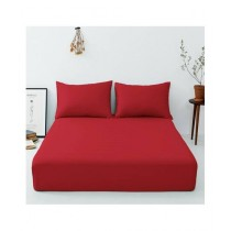 Maguari Luxury Cotton Fitted Double Bed Sheet With Pillow Cover (0446)