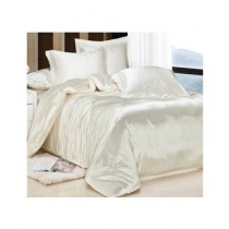 Maguari Soft Silk Shine Comforter Bed Set Off White