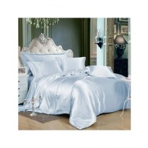 Maguari Soft Silk Shine Comforter Bed Set Sky Blue