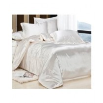 Maguari Soft Silk Shine Comforter Bed Set White
