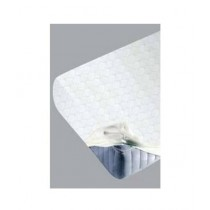 Maguari Stretch Jacquard Fitted Single Bed Sheet White (0457)