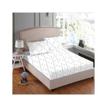 Maguari Printed Jersey Double Bed Sheet White (0453)