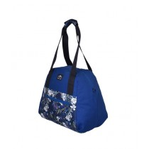 Maiyaan Floral Tote Hand Bag For Women Blue