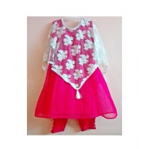 MakAsh Crinkle Chifon Frock For Girls Pink