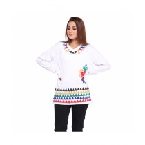Marck And Jack African Tribal Print Top For Women White (M&J-Dw14)