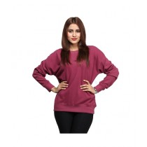 Marck And Jack Baggy Sweatshirt For Women Maroon (M&J-DW28)