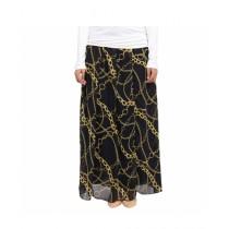 Marck And Jack Chain Print Skirt For Women Golden (MJ118)