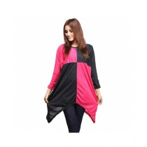 Marck And Jack Drape Top For Women Pink & Black