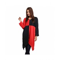 Marck And Jack Drape Top For Women Red & Black