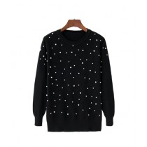 Marck And Jack Embellished Sweatshirt For Women Black (M&J-DW34)