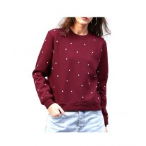 Marck And Jack Embellished Sweatshirt For Women Maroon (M&J-DW27)