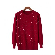 Marck And Jack Embellished Sweatshirt For Women Red (M&J-DW32)