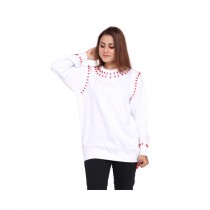 Marck And Jack Embellished Sweatshirt For Women White (M&J-Dw5)
