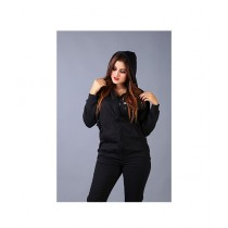 Marck And Jack Embellished Zipper Hoodie For Women Black
