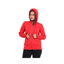 Marck And Jack Fleece Hoodie For Women Red (M&J-DW12)