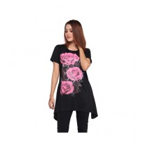 Marck And Jack Floral Printed Top For Women Black (M&J-DW11)