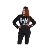 Marck And Jack Game Over Printed T-Shirt For Women Black (M&J-DW25)