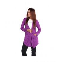 Marck And Jack Korean Cardigan For Women Purple (M&J-DW21)