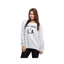 Marck And Jack Loose Sweatshirt For Women Grey (M&J-DW29)