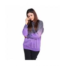 Marck And Jack Mystic Sweat T-Shirt For Women Charcoal Purple (M&J-Wp7)