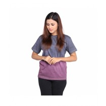 Marck And Jack Ombre Dye T-Shirt For Women Grey Maroon (M&J-Wp5)