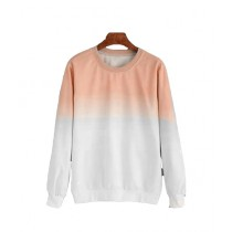 Marck And Jack Ombre Sweatshirt For Women Peach (M&J-DW37)