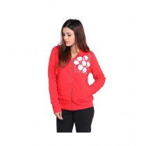 Marck And Jack Pearl Embellished Hoodie For Women Red (M&J-DW1)