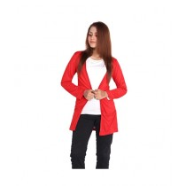Marck And Jack Pocket Cardigan For Women Red (M&J-DW17)