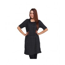 Marck And Jack Polka Dot Top For Women Black (M&J-DW6)