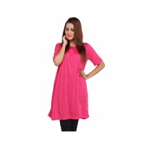 Marck And Jack Polka Dot Top For Women Pink (M&J-Dw7)