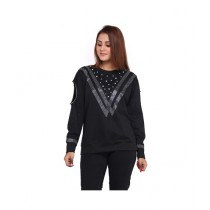 Marck And Jack Retro Pearl Sweatshirt For Women Black (M&J-DW9)