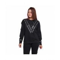 Marck And Jack Retro Sweatshirt For Women Black (M&J-Dw9)