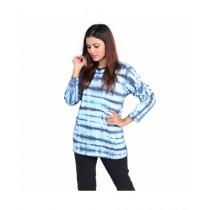Marck And Jack Shibori Dye Heart T-Shirt For Women Blue (M&J-Wp3)
