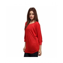 Marck And Jack Stylish Dolman Top For Women Red