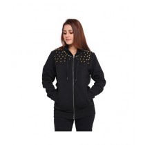 Marck And Jack SUD Embellished Hoodie For Women Black (M&J-DW8)