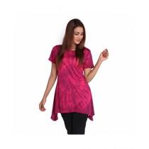 Marck And Jack Sun Blush Tie Dye Top For Women Pink (M&J-Dw15)