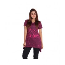 Marck And Jack Swirl Dye Top For Women Maroon (M&J-DW16)