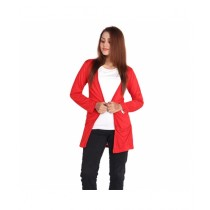 Marck And Jack UK Style Pocket Cardigan For Women Red (M&J-Dw17)
