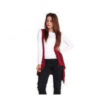 Marck And Jack Waterfall Cardigan For Women Maroon (M&J-DW18)