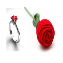 Marck And Jack Zircon Ring With Rose Box Red