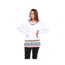 Marck & Jack African Tribal Top For Women White (M&J-DW14)