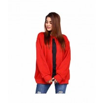 Marck & Jack Fleece Cape Coat For Women Red (M&J-WF15)