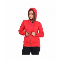 Marck & Jack Fleece Zipper Hoodie For Women Red (M&J-DW12)
