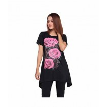 Marck & Jack Floral Printed Top For Women Black (M&J-DW11)