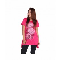 Marck & Jack Floral Printed Top For Women Pink (M&J-DW24)
