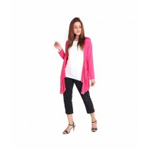 Marck & Jack Korean Pocket Cardigan For Women Pink (M&J-DW22)