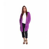 Marck & Jack Korean Pocket Cardigan For Women Purple (M&J-DW21)