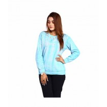 Marck & Jack Mermaid Embellished Fleece Winter Top For Women Blue (M&J-WF2)